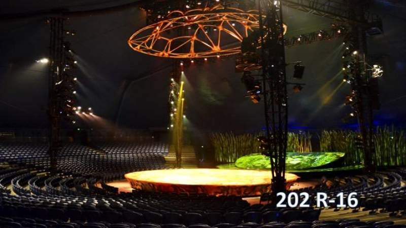 Seating view for Cirque Du Soleil - Totem Section 202 Row R Seat 16