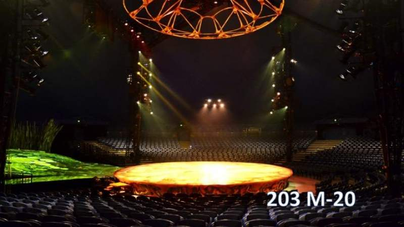 Seating view for Cirque Du Soleil - Totem Section 203 Row M Seat 20