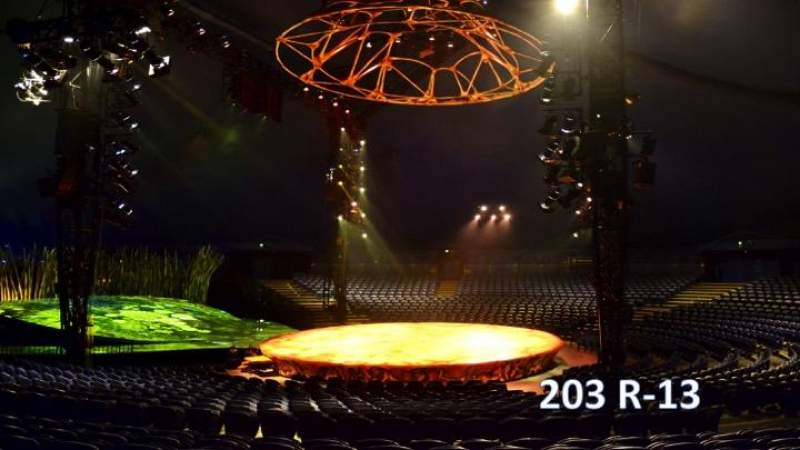 Seating view for Cirque Du Soleil - Totem Section 203 Row R Seat 13