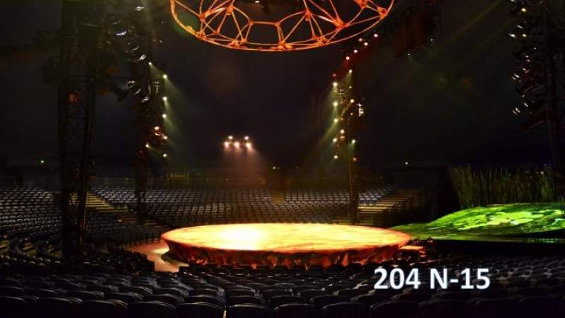 Seating view for Cirque Du Soleil - Totem Section 204 Row N Seat 15