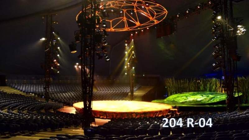 Seating view for Cirque Du Soleil - Totem Section 204 Row R Seat 4