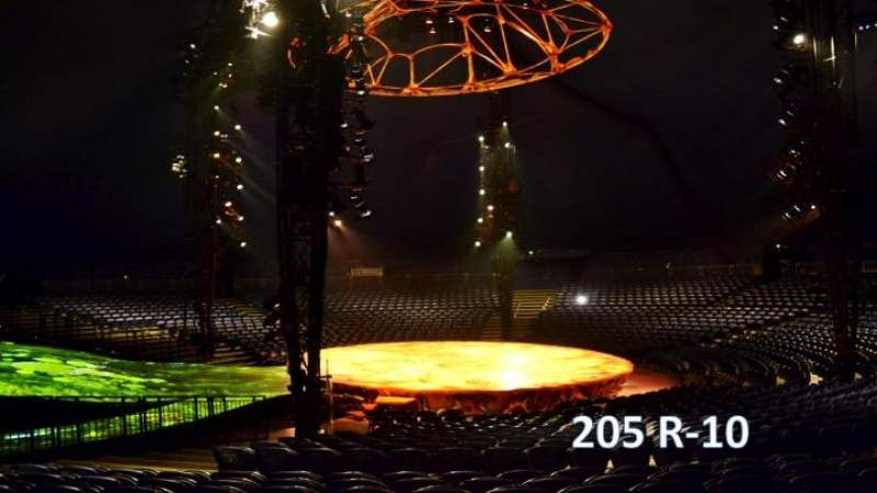 Seating view for Cirque Du Soleil - Totem Section 205 Row R Seat 10