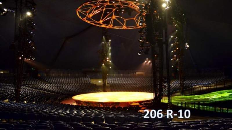 Seating view for Cirque Du Soleil - Totem Section 206 Row R Seat 10