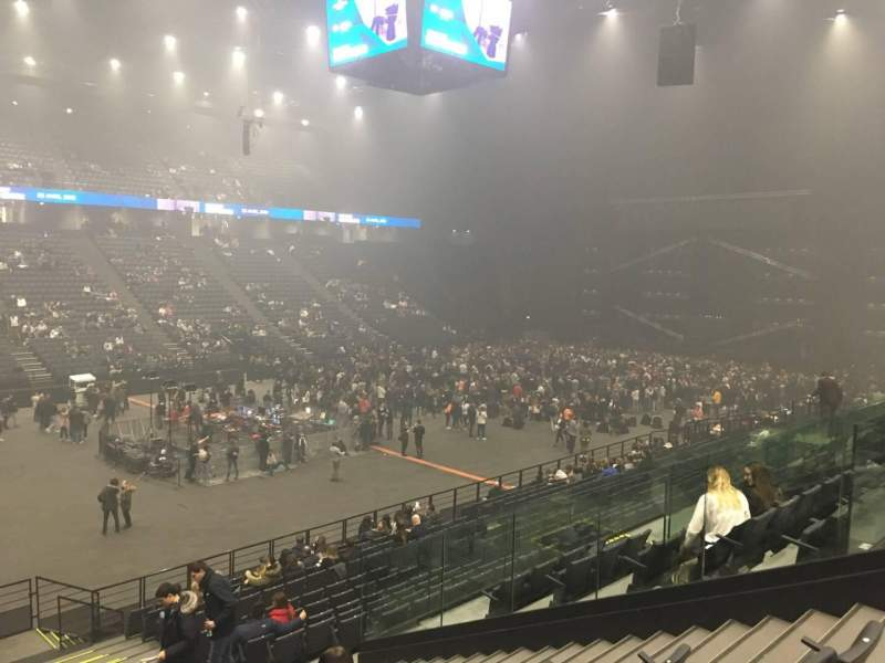 Seating view for AccorHotels Arena Section D Row 9 Seat 18