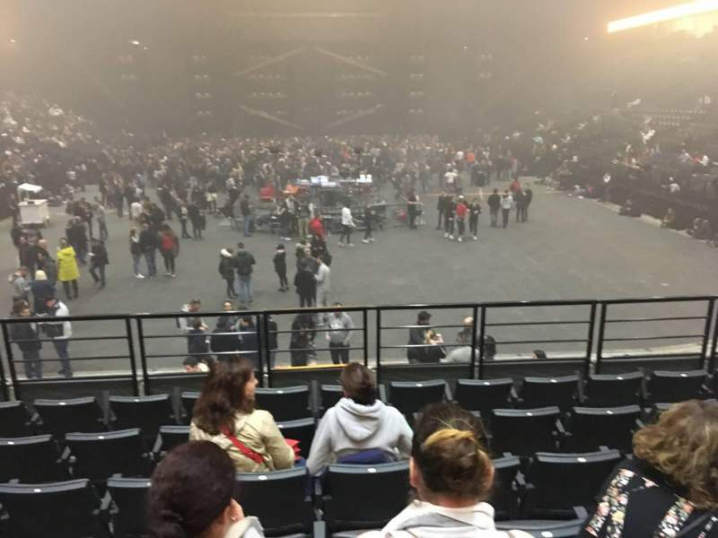 Seating view for AccorHotels Arena Section A Row 16 Seat 32