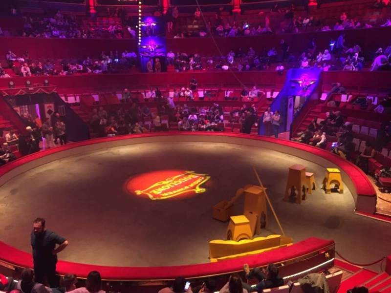 Seating view for Cirque d'hiver Section B Row A Seat 72