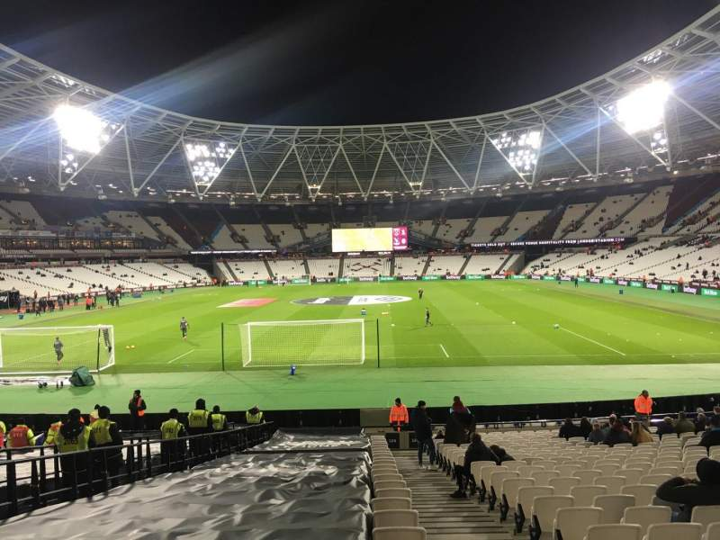 London Stadium, section: 124, row: 22
