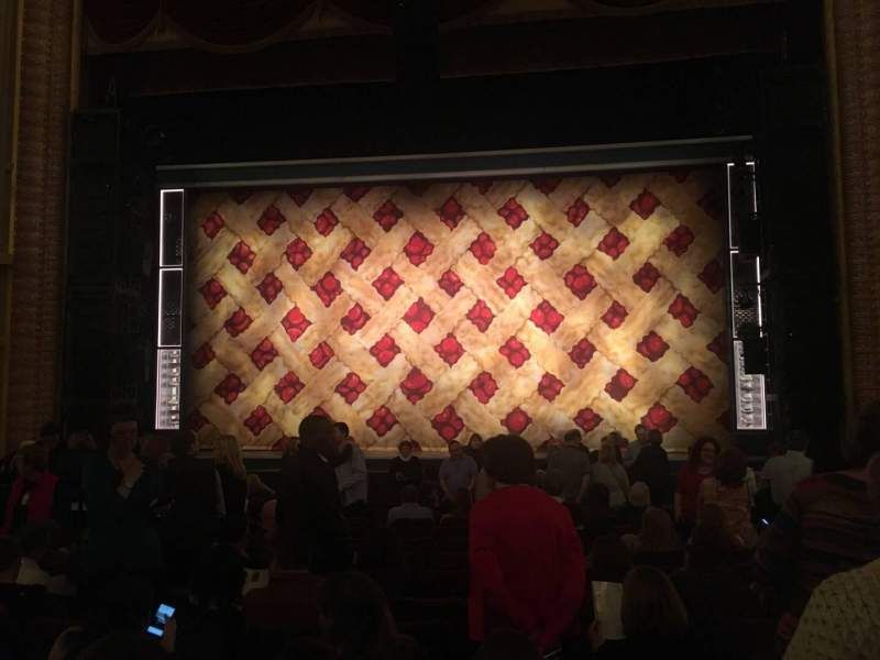 Seating view for Forrest Theatre Section Orchestra C Row O Seat 104