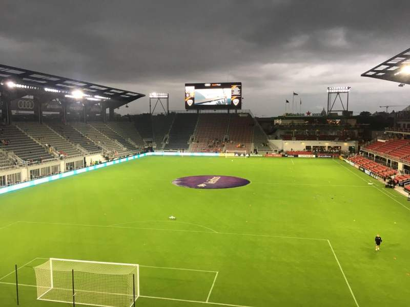 Seating view for Audi Field Section 116 Row 20 Seat 13