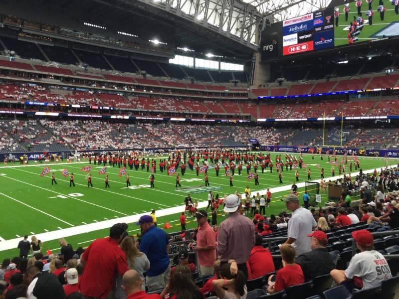 Seating view for NRG Stadium Section 131 Row S Seat 8