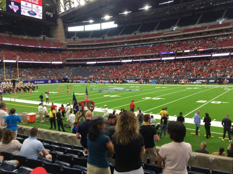 Seating view for NRG Stadium Section 104 Row H Seat 1
