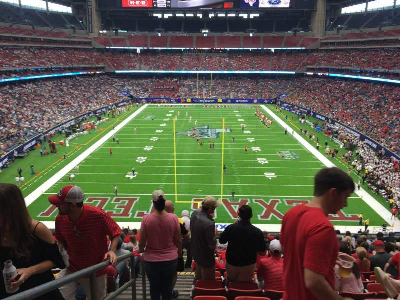 Seating view for NRG Stadium Section 351 Row Q Seat 24