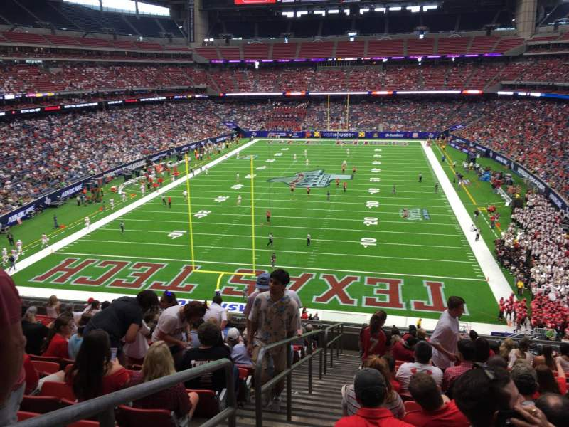 Seating view for NRG Stadium Section 350 Row P Seat 24