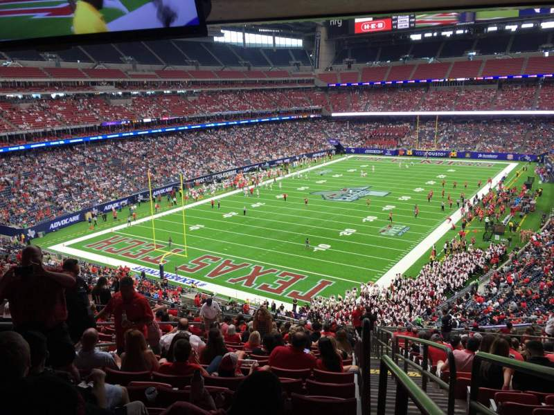 Seating view for NRG Stadium Section 348 Row V Seat 1