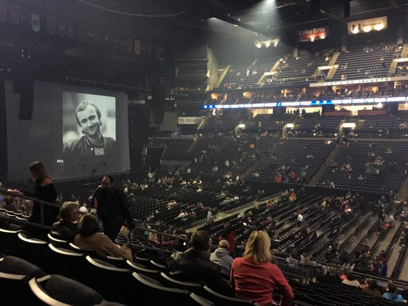 Seating view for Nationwide Arena Section 113 Row Y Seat 11