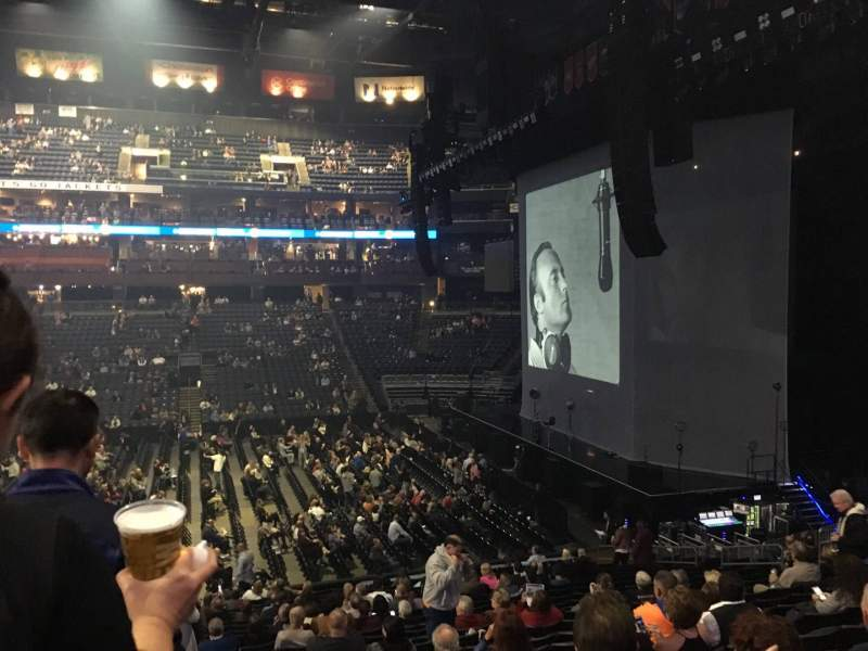 Seating view for Nationwide Arena Section 102 Row X Seat 20