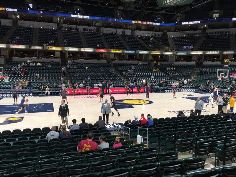 Seating view for Bankers Life Fieldhouse Section 17 Row 15 Seat 6