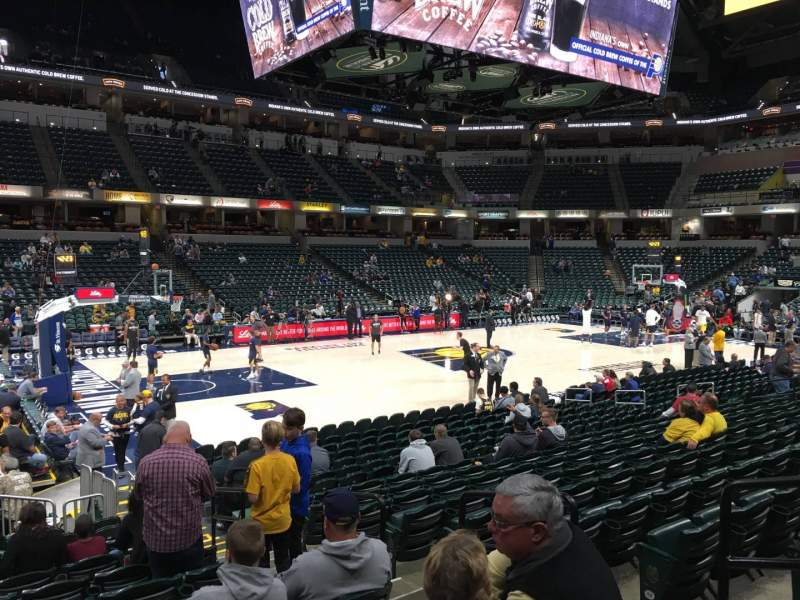 Seating view for Bankers Life Fieldhouse Section 18 Row 17 Seat 4