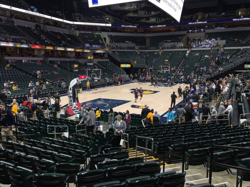 Seating view for Bankers Life Fieldhouse Section 9 Row 17 Seat 10