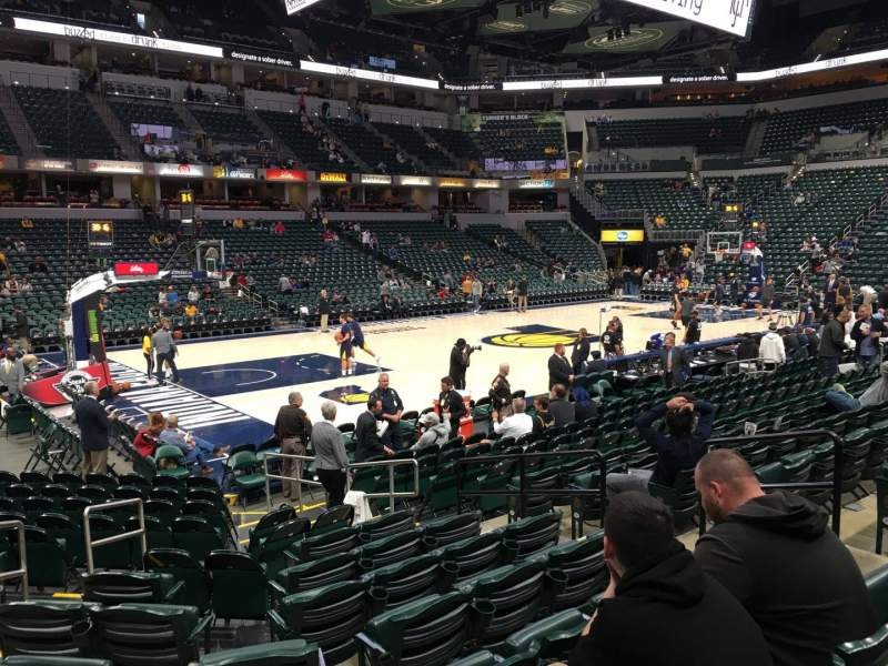 Seating view for Bankers Life Fieldhouse Section 7 Row 15 Seat 8