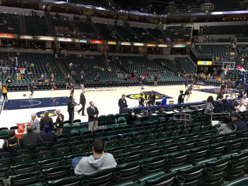 Seating view for Bankers Life Fieldhouse Section 6 Row 14 Seat 14