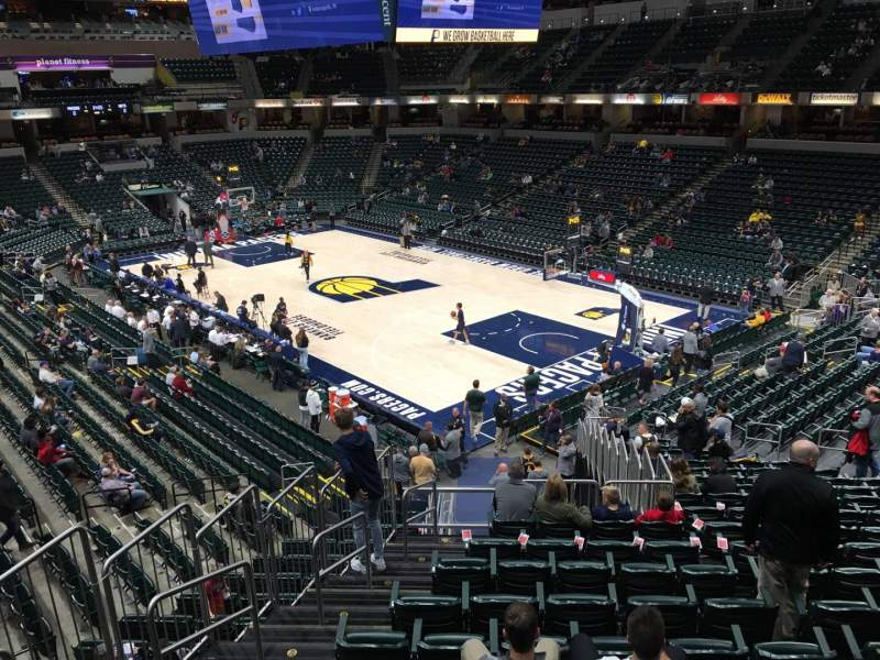 Seating view for Bankers Life Fieldhouse Section 2 Row Aca Seat 9