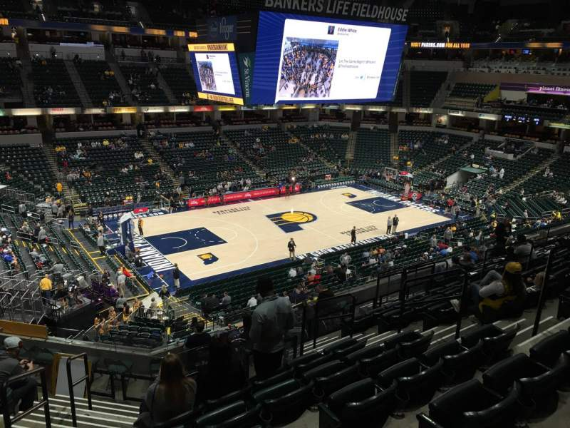 Seating view for Bankers Life Fieldhouse Section 119 Row 12 Seat 15