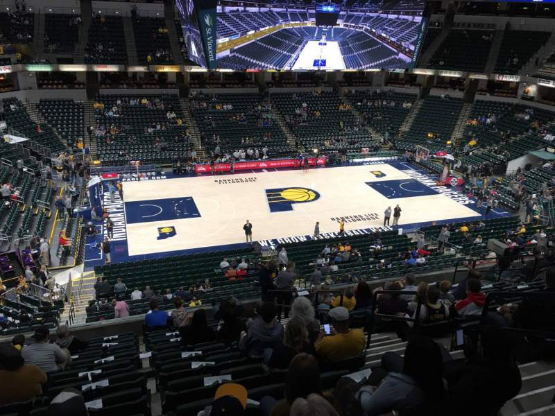 Seating view for Bankers Life Fieldhouse Section 118 Row 11 Seat 13