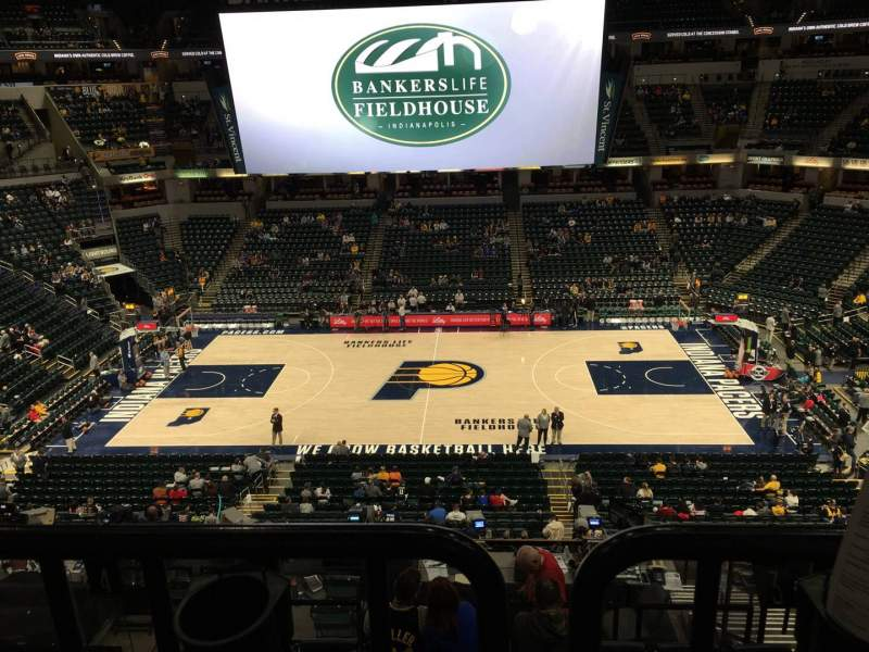 Seating view for Bankers Life Fieldhouse Section 117 Row Aca Seat 3