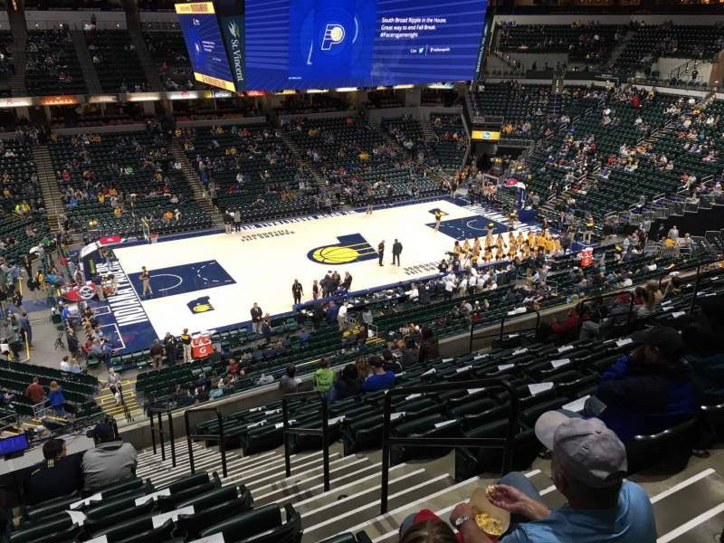 Seating view for Bankers Life Fieldhouse Section 106 Row 11 Seat 3