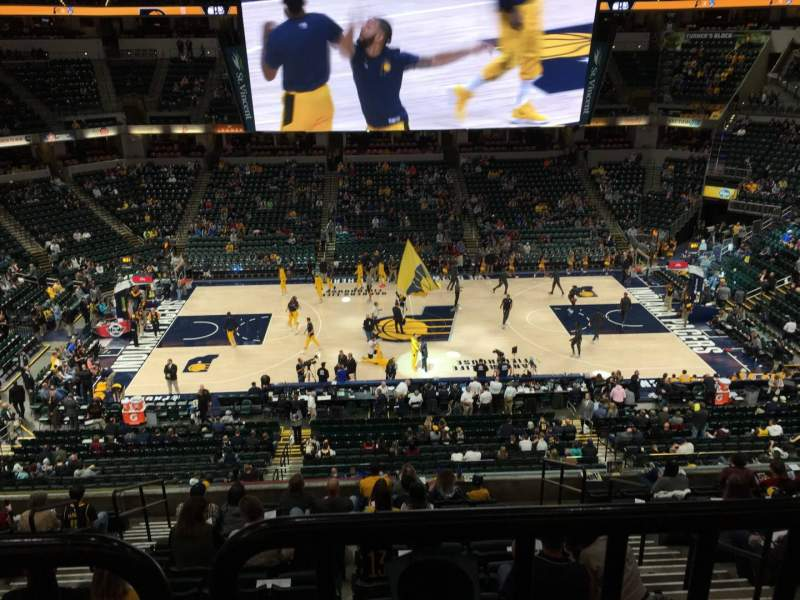 Seating view for Bankers Life Fieldhouse Section 105 Row Aca Seat 3