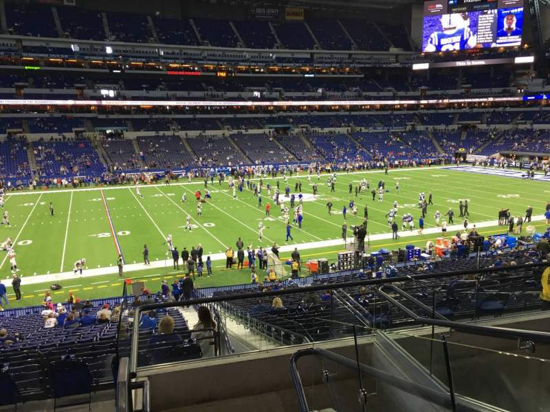 Seating view for Lucas Oil Stadium Section 243 Row 52