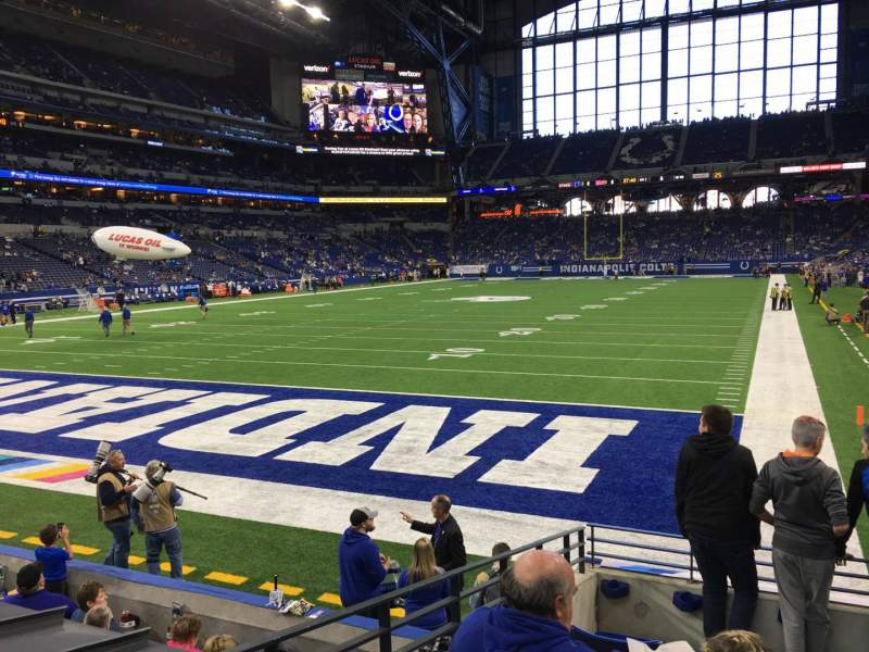 Seating view for Lucas Oil Stadium Section 124 Row 9 Seat 12