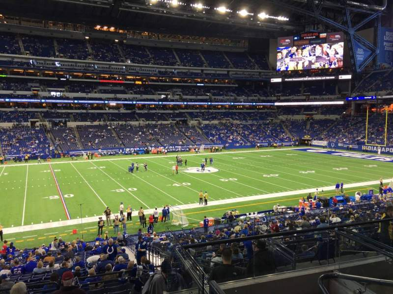 Seating view for Lucas Oil Stadium Section 216 Row 5 Seat 5