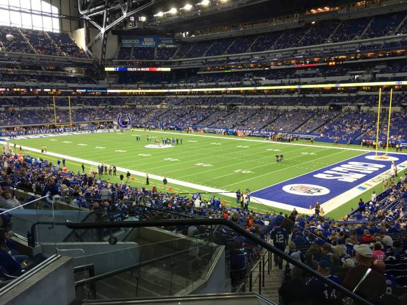 Seating view for Lucas Oil Stadium Section 206 Row 2 Seat 17