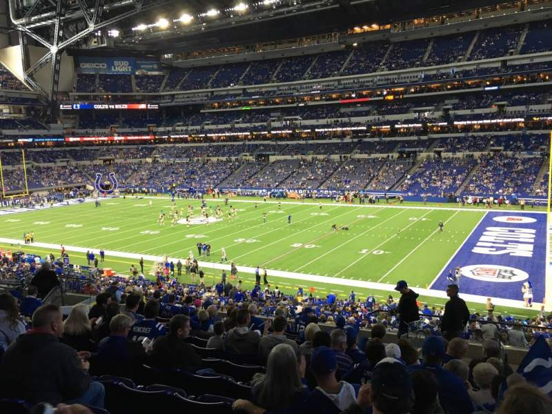 Seating view for Lucas Oil Stadium Section 209 Row 13 Seat 2