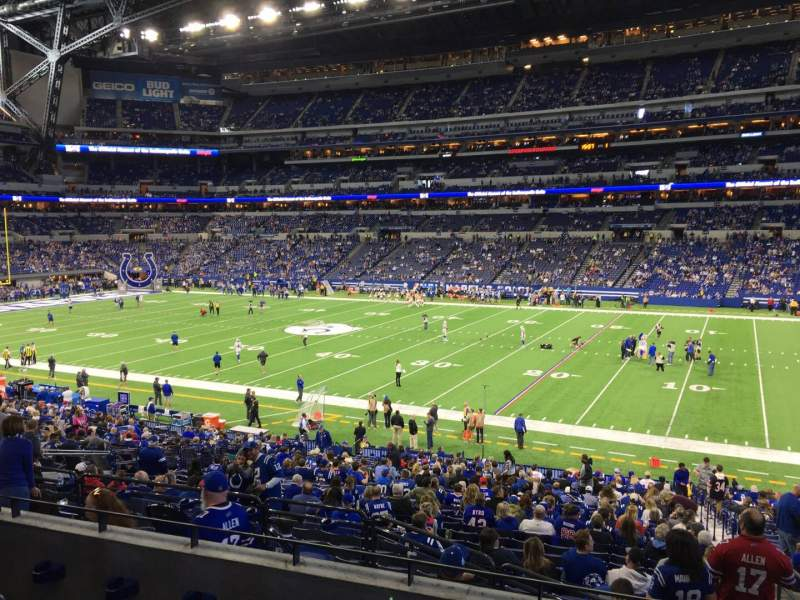 Seating view for Lucas Oil Stadium Section 210 Row 4 Seat 3