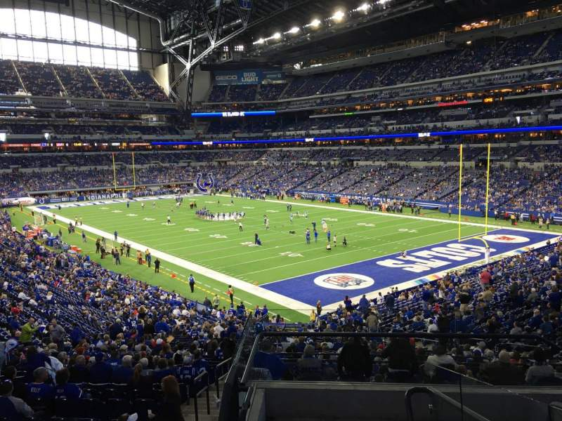 Seating view for Lucas Oil Stadium Section 205 Row 6 Seat 2