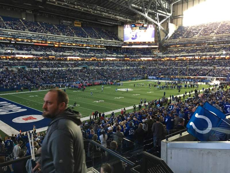 Seating view for Lucas Oil Stadium Section 245 Row 5 Seat 22