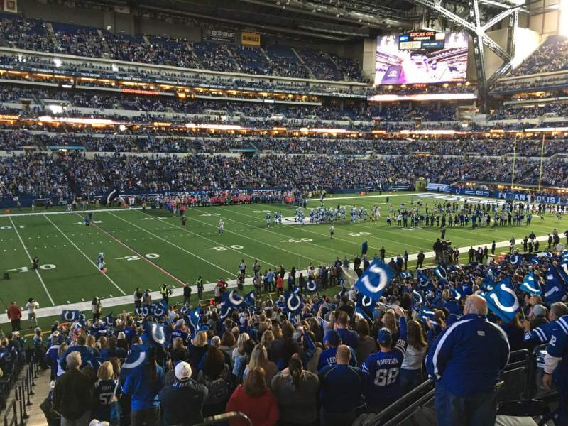 Seating view for Lucas Oil Stadium Section 244 Row 1 Seat 24