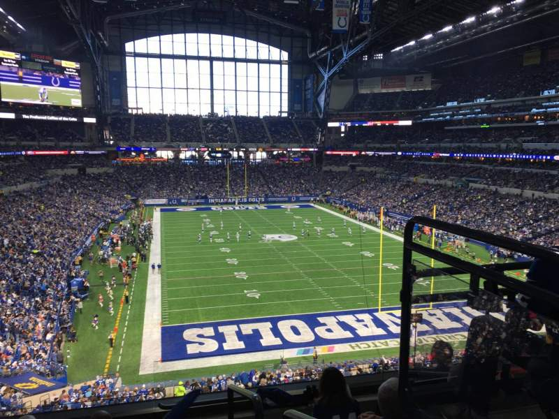 Seating view for Lucas Oil Stadium Section 329 Row 5 Seat 1