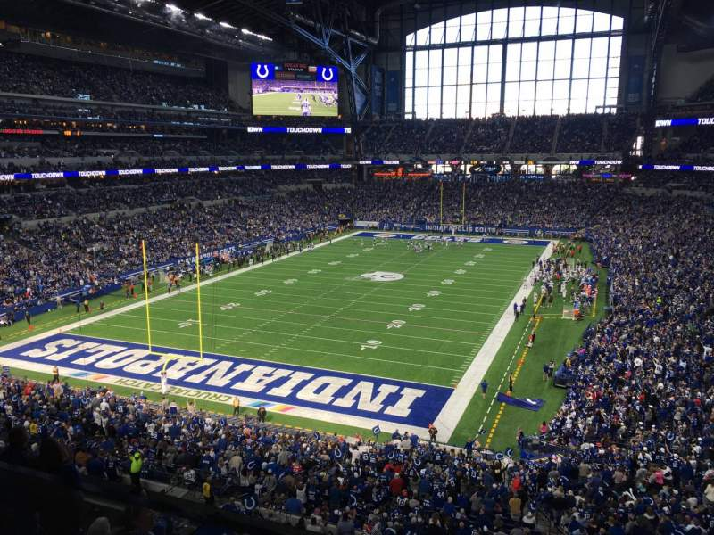 Seating view for Lucas Oil Stadium Section 423 Row 4 Seat 2