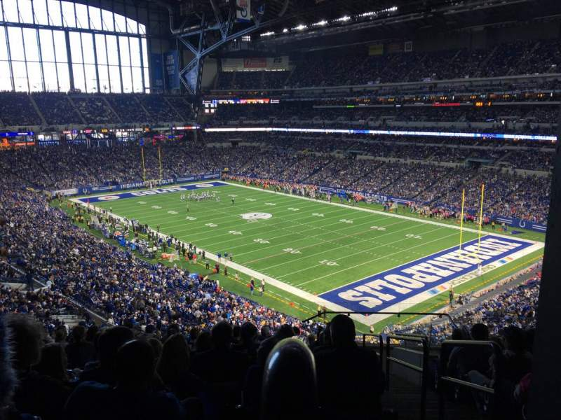 Seating view for Lucas Oil Stadium Section 433 Row 13 Seat 1