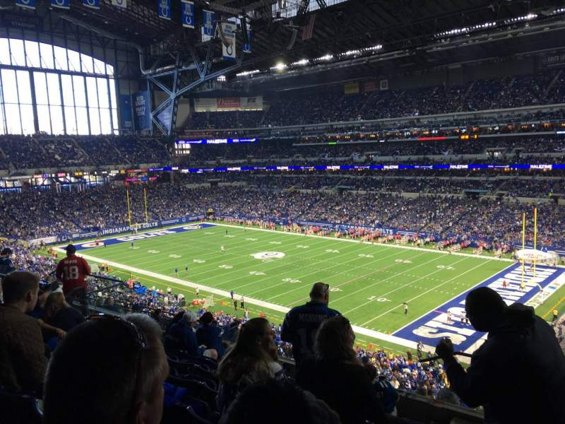 Seating view for Lucas Oil Stadium Section 434 Row 8 Seat 1