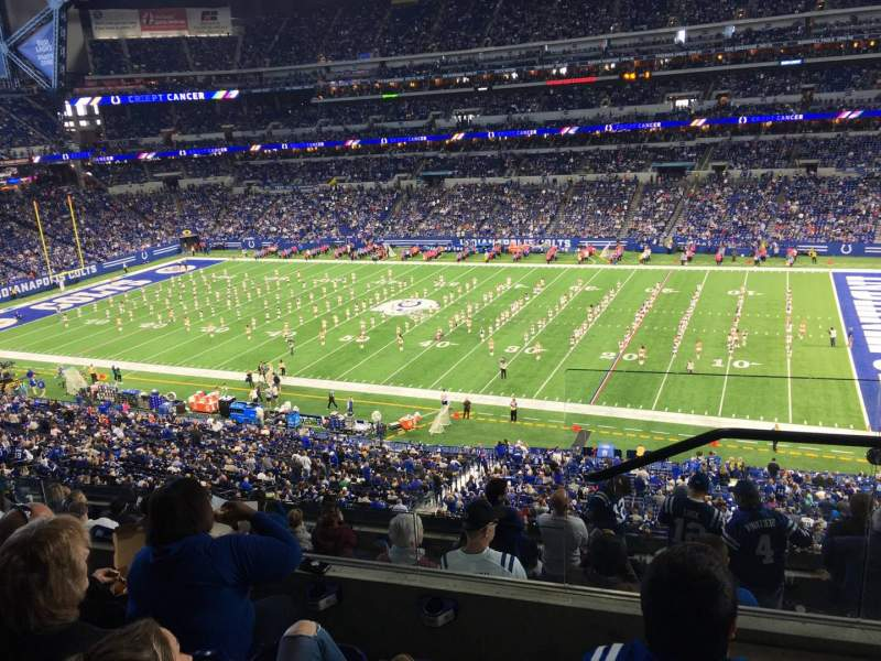Seating view for Lucas Oil Stadium Section 437 Row 4 Seat 1