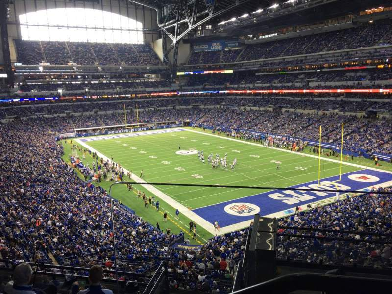 Seating view for Lucas Oil Stadium Section 404 Row 2 Seat 1
