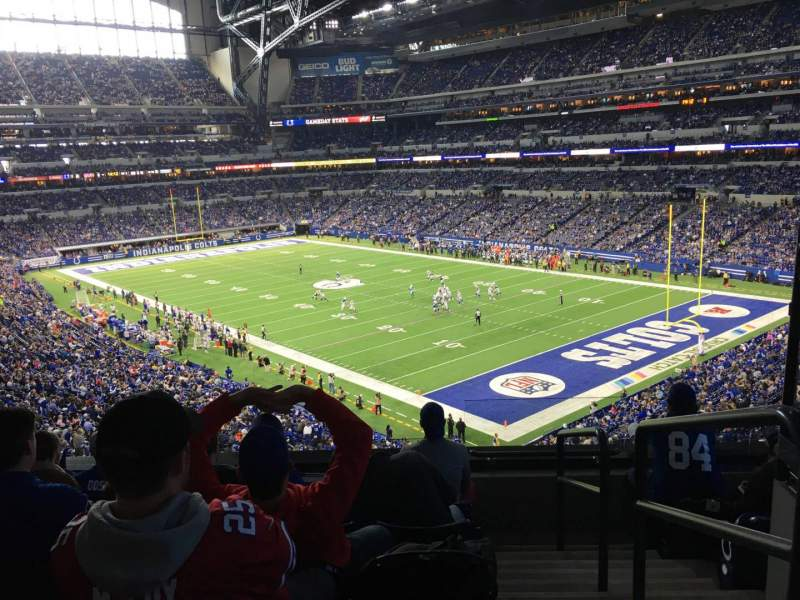 Seating view for Lucas Oil Stadium Section 306 Row 5 Seat 1