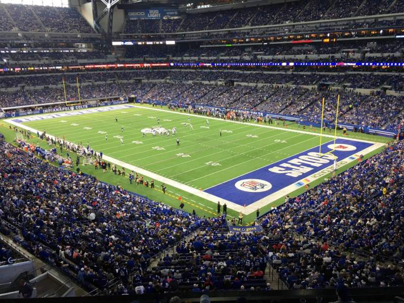Seating view for Lucas Oil Stadium Section 406 Row 1 Seat 1