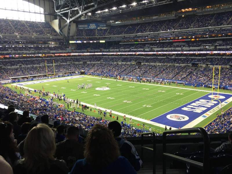 Seating view for Lucas Oil Stadium Section 307 Row 5 Seat 1