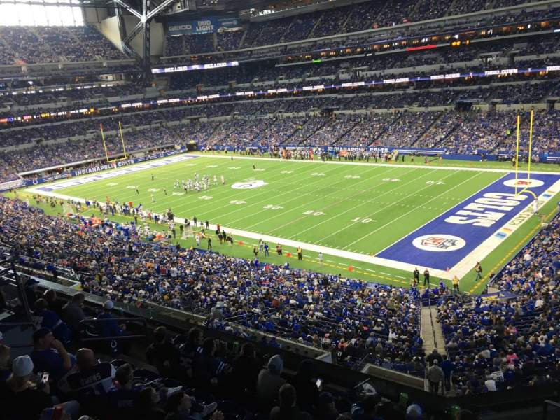 Seating view for Lucas Oil Stadium Section 407 Row 2 Seat 1